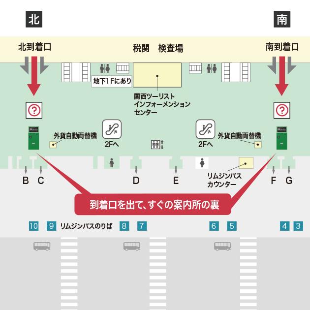 関西空港 国際線到着フロア到着...